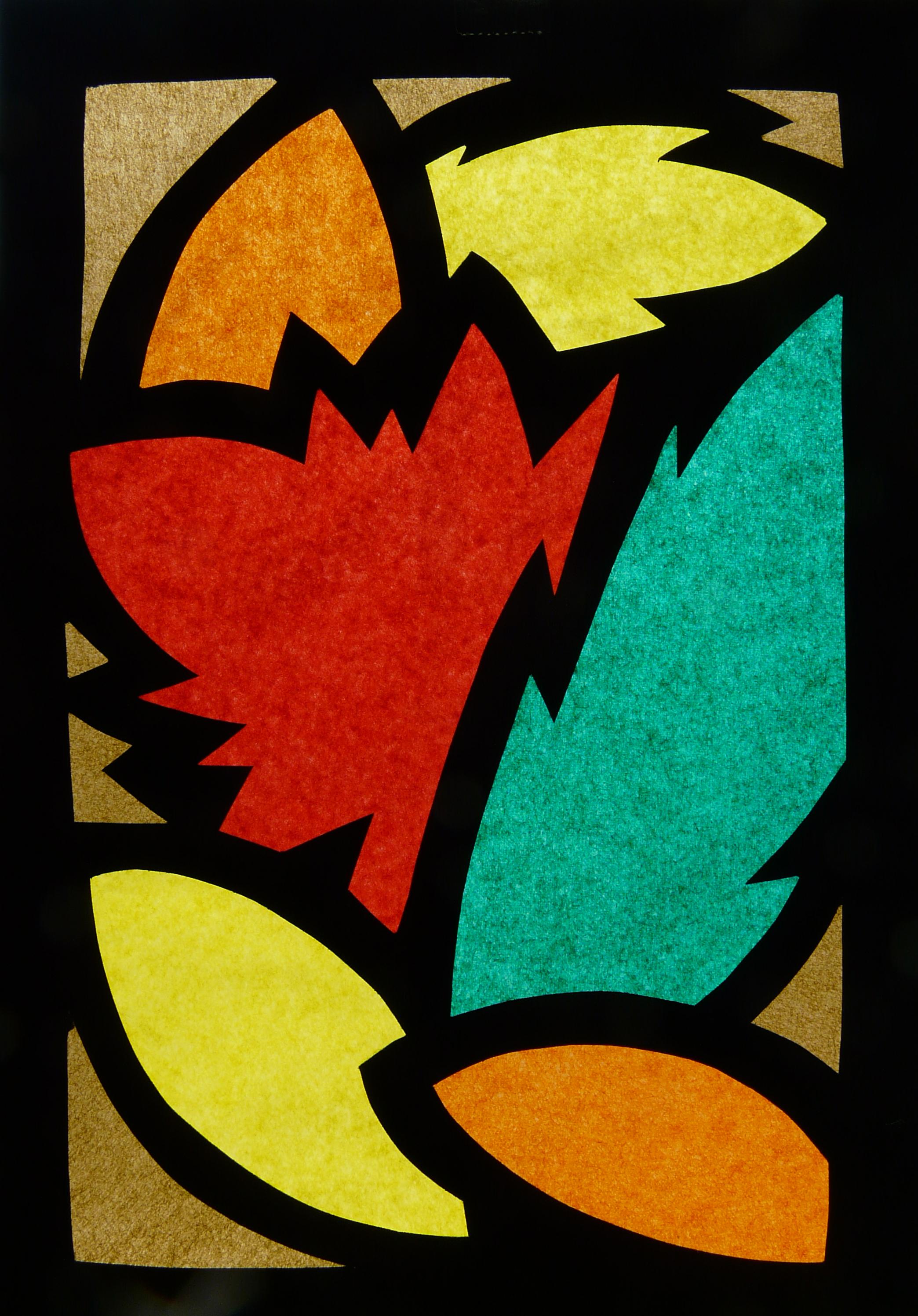 Decoriamo le finestre vetrate per l autunno - Finestra da colorare ...