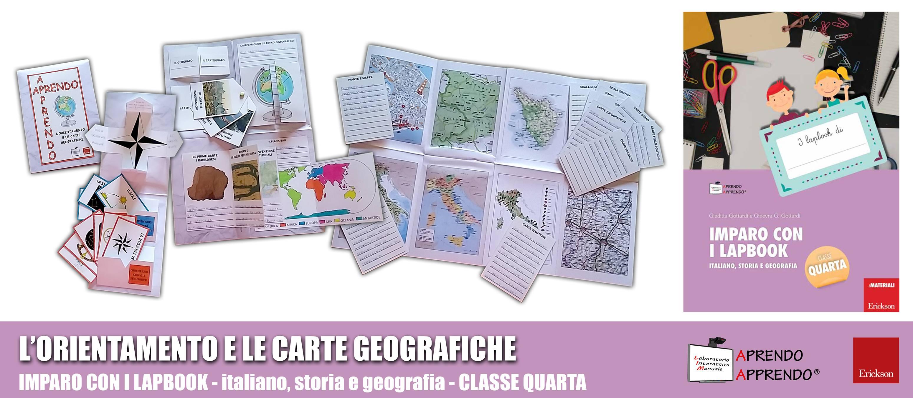 Lapbook Lorientamento E Le Carte Geografiche Aprendo Apprendo Lim